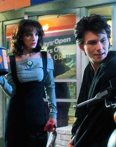 Veronica (Winona Ryder) and J.D. (Christian Slater) from #Heathers.