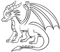 Easy cartoon dragon coloring pages glamorous easy to draw dragons easy to draw cartoon dragons step by step Easy Dragon Drawings, Cool Easy Drawings, Easy Animal Drawings, Easy Cartoon Drawings, Cute Drawings, Drawing Sketches, Drawing Ideas, Dragon Coloring Page, Coloring Pages