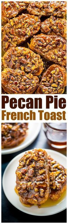Pecan Pie French Toast - Baker by Nature Overnight Pecan Pie French Toast is the ultimate holiday brunch!Overnight Pecan Pie French Toast is the ultimate holiday brunch! What's For Breakfast, Breakfast Dishes, Breakfast Recipes, Dessert Recipes, Avacado Breakfast, Breakfast Casserole, Fodmap Breakfast, Overnight Breakfast, Breakfast Healthy