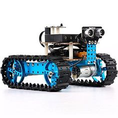 Makeblock DIY Starter Robot kit - Premium Quality - STEM Education - Arduino - Scratch - Programmable Robot Kit for Kids to Learn Coding, Robotics and Electronics (IR Version) ** Learn more @ Robot Kits For Kids, Make A Robot, Build A Robot, Diy Robot, Arduino Mega, Arduino Programming, Learn Robotics, Programmable Robot, Tech Toys