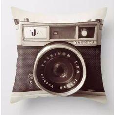 Throw Pillow Covers  Vintage Camera   UniikStuff