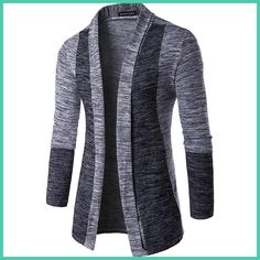 The new 2016 men splicing cardigan without buckle high-quality knitwear fashion and personality