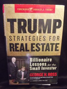 #Trump Strategies for #RealEstate Book #GeorgeRoss Signed Copy First Edition
