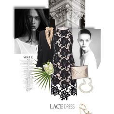 Stunning Cocktail Lace Dress by rever-de-paris on Polyvore featuring Keepsake the Label, Natasha Zinko, Gianvito Rossi, contest, Elegance, lacedress and polyvoreeditorial