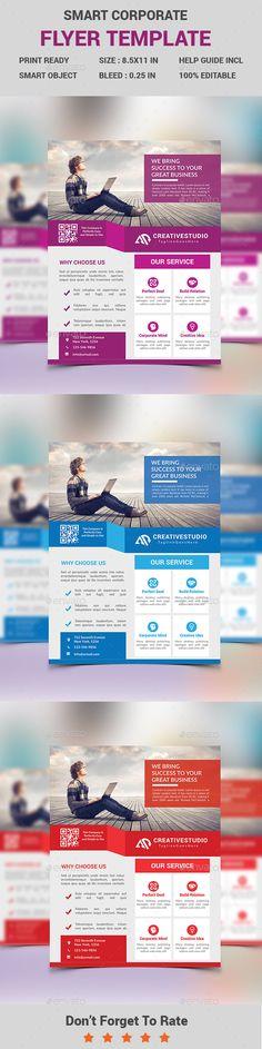 Smart Corporate Business Flyer Template PSD #design Download: http://graphicriver.net/item/smart-corporate-business-flyer/13966637?ref=ksioks