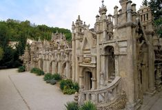 Postman Cheval's Palace  Hauterives, France  made over the course of 33 years with stones he collected in a wheelbarrow!