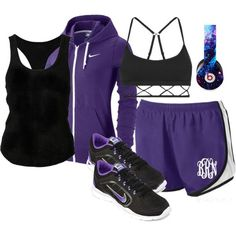 Monogrammed Running Shorts from Marleylilly.com by marleylilly on Polyvore featuring The Elder Statesman, NIKE, Lorna Jane and Beats by Dr. Dre. #workout #health #fitness #gym #fit