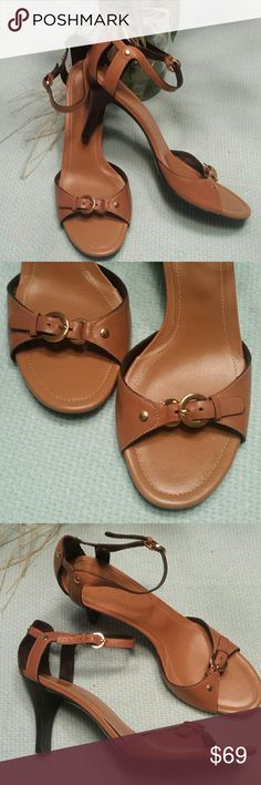 """Cole Haan New heels Gorgeous Cole Haan buckle front ,ankle strap heels. All leather . Soft as butter. Heels hight is 3 3/4"""" heel .. made in Brazil. New without box Cole Haan Shoes Sandals"""
