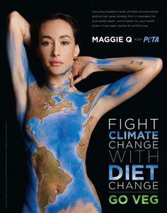 #celebrity#activist Maggie Q Gets Naked For PETA, Asks People To 'Go Veg'