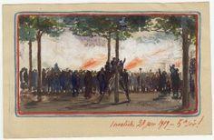 Paris, Les Invalides, un jour de fête. 28 juin 1919.