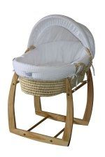 Organic deluxe Moses Basket by Baby Trenz, NZ