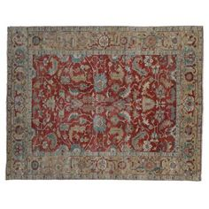 Check out this item at One Kings Lane! 10'x14' Serapi Rug, Red/Gold $5900