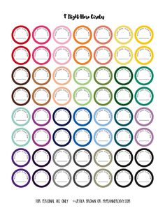 """1"""" Right Here Circle - Free Planner Printable"""