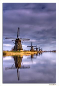 The Park of Windmills,  Kinderdijk, Netherlands