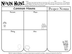 All Things Upper Elementary: We're Going On a NOUN HUNT!
