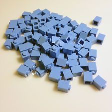 "BULK LOT 100 1x1 New LEGO Bricks (ID 3005) Medium Blue (""Light Blue"")"