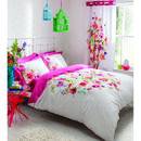 Catherine Lansfield Bright Floral Bedding Set - Brightly coloured floral print bedding set from Catherine Lansfield. The set is designed with a large, multi-coloured bouquet of flowers to the centre of the duvet cover. Featuring a plain-coloured re http://www.MightGet.com/january-2017-11/catherine-lansfield-bright-floral-bedding-set-.asp