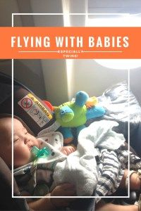 Flying with infants