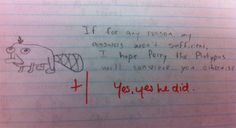 Funniest Test Answers Ever.... This is the one my friend did.......... Wow, it really is a small world after all...... I didn't think id'e ever see it again.