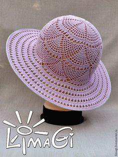 """Купить Шляпка """"Грация"""" - описание - шляпка женская, шляпка для девочки, шляпка ажурная, шляпка вязаная"""