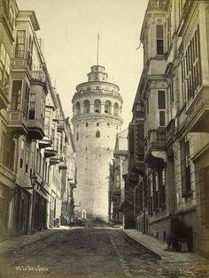 Galata Kulesi 1865-1880 Pascal Sebah