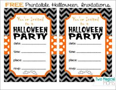 FREE Printable Halloween Invitations Totally Cute And Family
