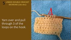 Hook and Yarns by EveryDayWomanCrochet: Learn to Increase and Decrease with the Linked Double Crochet (Ldc) Pull Through, Double Crochet Decrease, Yarns, Crochet Hats, Learning, Knitting Hats, Studying, Teaching, Onderwijs