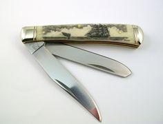 Scrimshaw Pocket Knife
