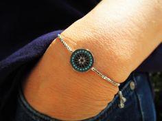 Turkish evil eye bracelet  gift for bride  tennis by ebrukjewelry