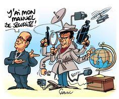 DESSIN DU JOUR N°2  - François #Hollande et Manuel #Valls annoncent des mesures de lutte contre le #terrorisme :