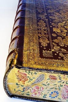 For the love of Books...Bound Bible with painted edges, 1670.