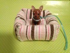 DIY - Como fazer uma cama de cachorro para boneca - YouTube