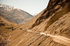 The mountains in the Spiti Valley (Himalayas) are constantly moving, shifting and shedding their stones... always a good idea to keep your helmet on. Join us on our 'Spiti Valley - Himalayas 3 miles High' adventure in June 2016 and ride a Classic 500cc Royal Enfield Bullet through the stunning Spiti Valley
