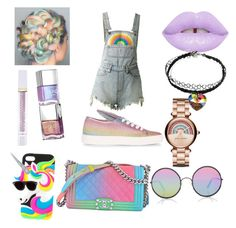 """""""Untitled #43"""" by rdmartin-1 on Polyvore featuring Winky Lux, Lime Crime, UNIF, Minna Parikka, Marc Jacobs, Chanel, Sunday Somewhere and Hot Topic"""