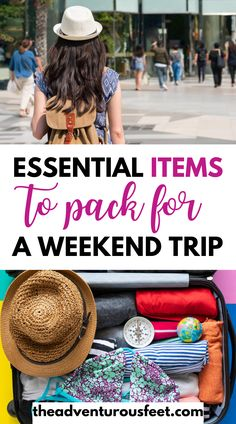 Going for a weekend trip? Here is the complete weekend trip packing list with everything you'll need| weekend trip packing list summer| packing list for a weekend| packing list for a weekend trip| packing list for a weekend getaway| weekend packing list| weekend essentials | weekend trip essentials|weekend getaway essentials | 2 days trip packing list| pagirls weekend trip essentials #packinglistforaweekend #2dayspackinglist Weekend Trip Packing, Summer Packing Lists, Packing List For Travel, Packing Tips, Budget Travel, Travel Essentials For Women, International Travel Tips, What To Pack, Trip Planning
