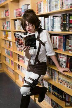 """Megan Coffey as Hanji Zoe from """"Attack On Titan"""" manga"""