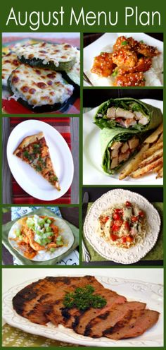 August Menu Plan from @Jamie Cooks It Up!