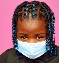 Little Girls Natural Hairstyles, Toddler Braided Hairstyles, Little Girl Braid Hairstyles, Big Box Braids Hairstyles, Little Girl Braids, Cute Girls Hairstyles, Kids Braids With Beads, Braids For Kids, Kid Braid Styles