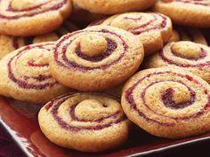 Cranberry-Honey Spice Pinwheel Cookies