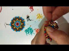 Kum boncuk Mandala küpe yapımı 2 - YouTube Gold Jewelry Simple, Simple Necklace, Beading Tutorials, Diy And Crafts, Jewlery, Handmade Jewelry, Beaded Bracelets, Beads, Earrings