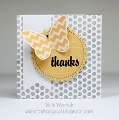 Pretty yellow and grey 3x3 thank you card... CTMH. by Vicki Wizniuk, CTMH Independent Consultant