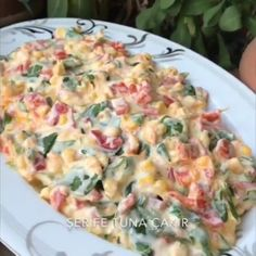 Author by ser 🌶Meat Salad with Peppers . Salad Menu, Meat Salad, Salad Dishes, Seafood Salad, Roasted Meat, Roasted Vegetables, Easy Salad Recipes, Easy Salads, Tomato Sauce Chicken