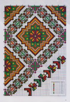 Cross Stitch Borders, Cross Stitching, Cross Stitch Embroidery, Folk Embroidery, Cross Stitch Flowers, Cross Stitch Charts, Embroidery Patterns, Cross Stitch Patterns, Knitting Patterns
