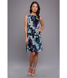 Adrianna Papell Chiffon Print Blouson Dress Blue Multi - Zappos.com Free Shipping BOTH Ways