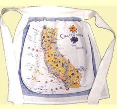 California State Map Vintage Look Kitchen Apron Primary Colors $14.99 http://www.nanaluluslinensandhandkerchiefs.com/index.cfm/fa/items.main/parentcat/25047/subcatid/0/id/526713