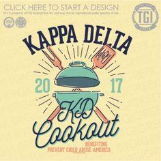 Kappa Delta | KΔ | KD Cookout | Philanthropy | TGI Greek | Greek Apparel | Custom Apparel | Sorority Tee Shirts | Sorority T-shirts | Custom T-Shirts