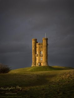 Broadway Tower-a light in the storm by Chris Day