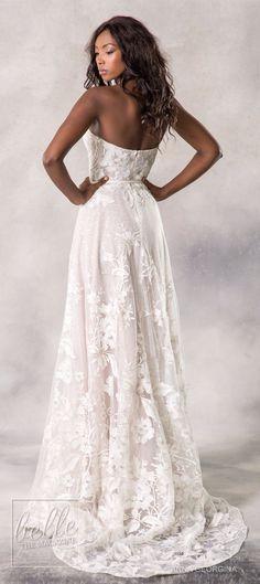 Anna Georgina 2019 Wedding Dresses Casablanca Bridal Collection - Anina A-line strapless sweetheart bridal gown | Floral wedding gown #weddingdress #weddingdresses #bridalgown #bridal #bridalgowns #weddinggown #bridetobe #weddings #bride #weddinginspirati
