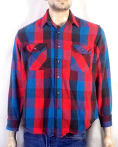 New w//Tags Men/'s Tommy Bahama Sea Glass Flannel Long Sleeve Shirt Fireworks Red