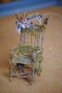 tree star hollow fairy furniture by Linda Haas